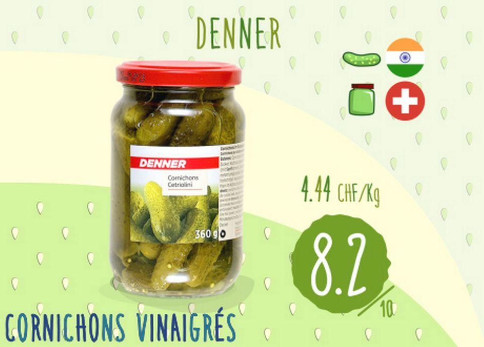 Cornichons vinaigrés - Denner [RTS]