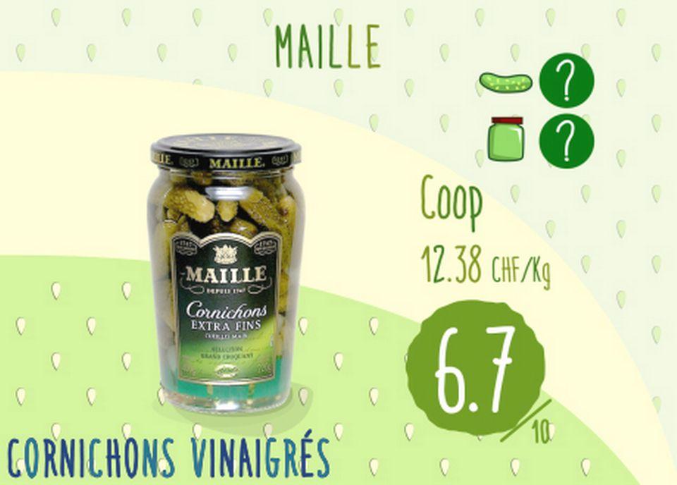 Cornichons vinaigrés - Maille. [RTS]