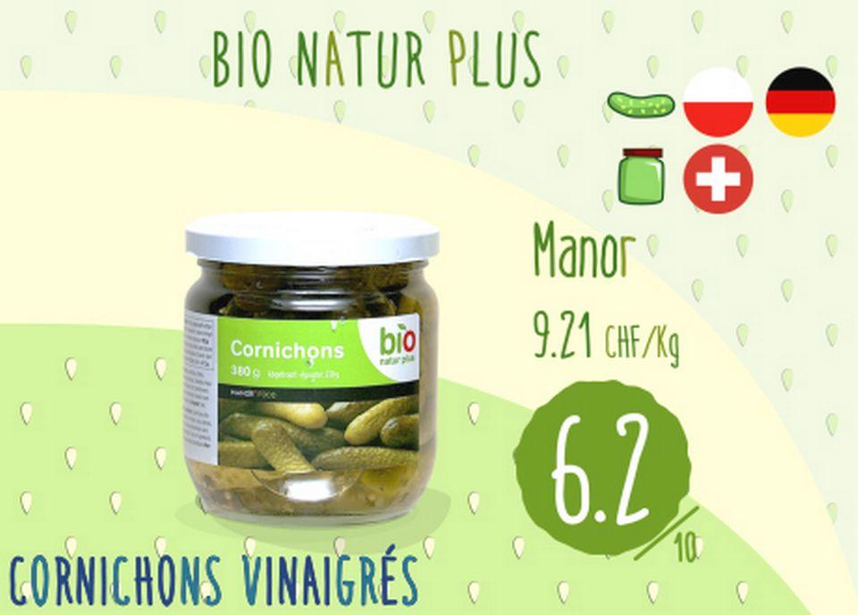 Cornichons vinaigrés - Bio Natur Plus. [RTS]