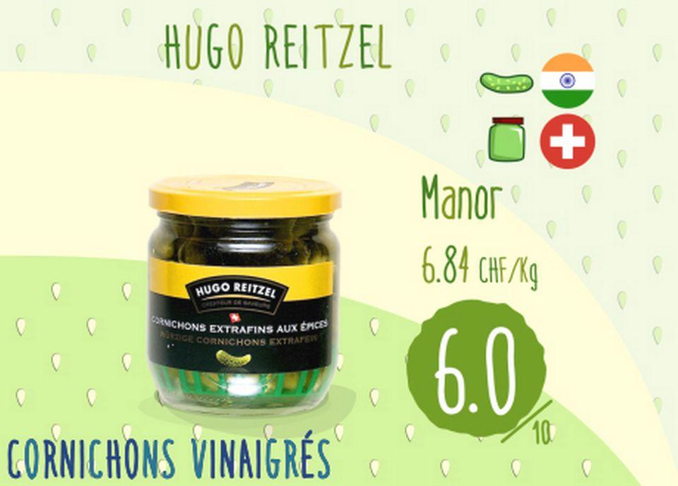 Cornichons vinaigrés - Hugo Reitzel. [RTS]