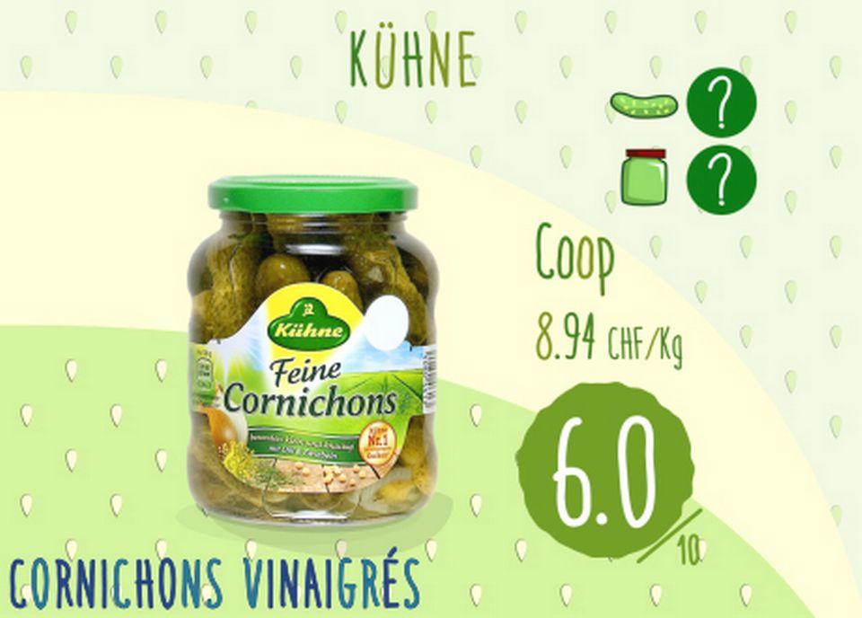 Cornichons vinaigrés - Kühne. [RTS]