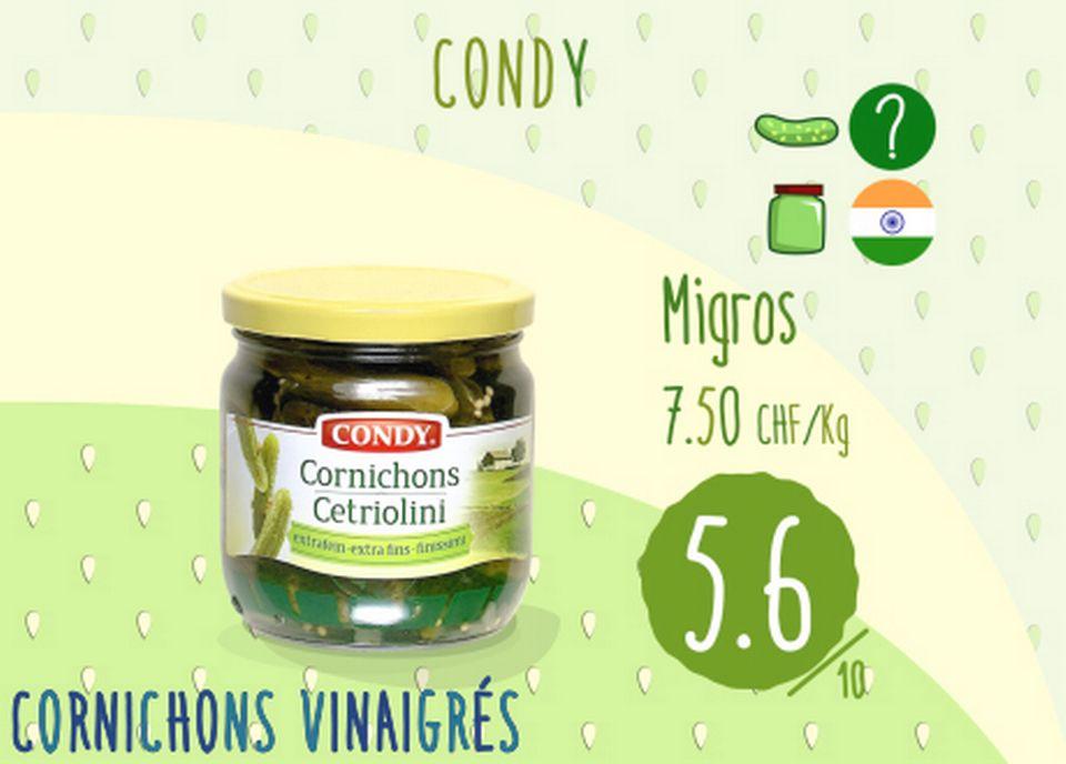 Cornichons vinaigrés - Condy [RTS]