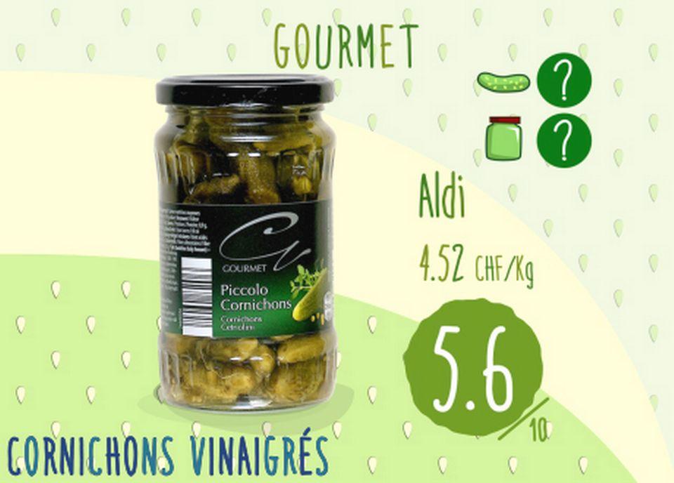 Cornichons vinaigrés - Piccolo Gourmet. [RTS]