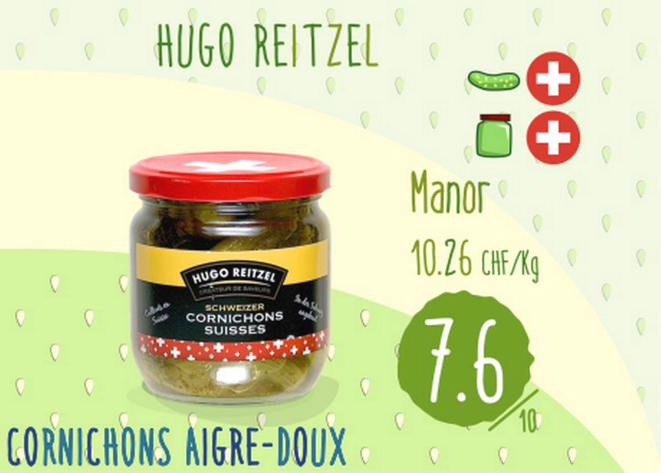 Cornichons aigre-doux - Hugo Reitzel. [RTS]