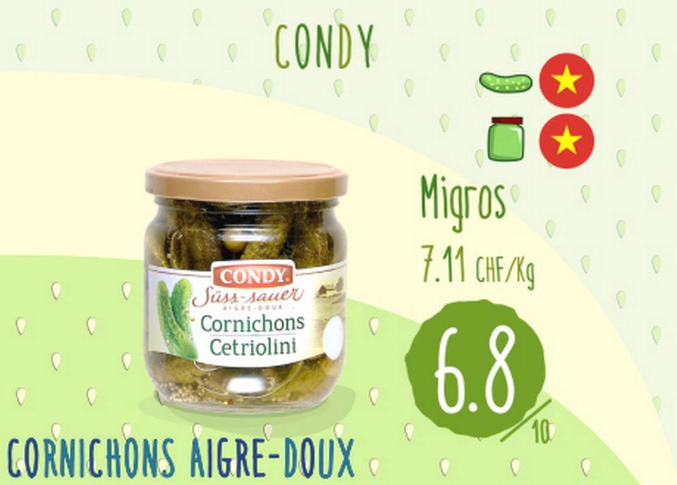 Cornichons aigre-doux - Condy. [RTS]