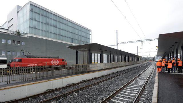 La gare de Prilly-Malley est un maillon important du RER vaudois. [Jean-Christophe Bott - Keystone]