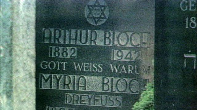 Tombe d'Arthur Bloch au cimetière juif de Berne, 1977. [RTS]
