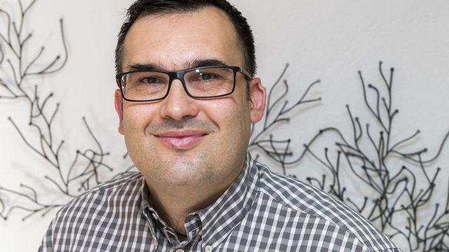 Sébastien Fanti, préposé valaisan à la protection des données. [Dominic Steinmann - Keystone]
