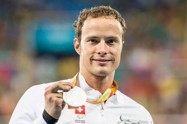 Pour la deuxième fois de joutes brésiliennes, Marcel Hug est monté sur la 2e marche du podium. [Alexandra Wey - Keystone]