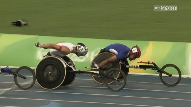 Le Thurgovien Marcel Hug décroche l'argent sur le 1500m en fauteuil roulant [RTS]