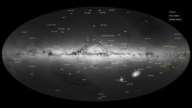 La cartographie de la Voie lactée a été présentée mercredi à Madrid par l'Agence spatiale européenne. [ESA/Gaia/DPAC]