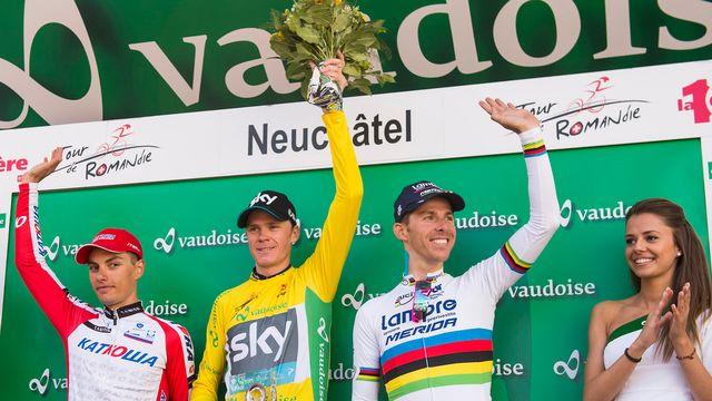 Froome a remporté le Tour de Romandie en 2014. [Jean-Christophe Bott - Keystone]