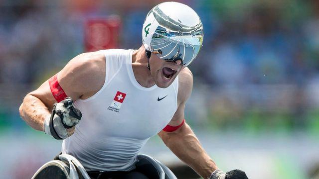 Marcel Hug remporte enfin l'or à Rio. [Alexandra Wey - Keystone]