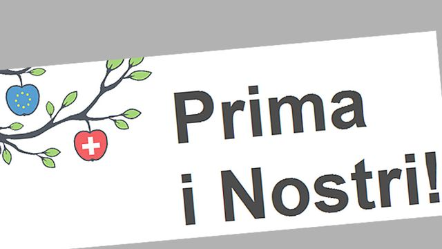 "L'initiative de l'UDC ""Prima i nostri"" veut accorder la priorité à la main d'oeuvre indigène tessinoise. [www.primainostri-blog.ch]"
