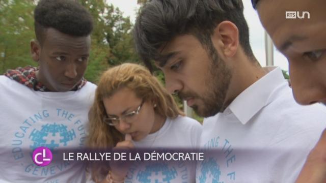 GE: deux cents apprentis migrants participent à un rallye de la démocratie [RTS]