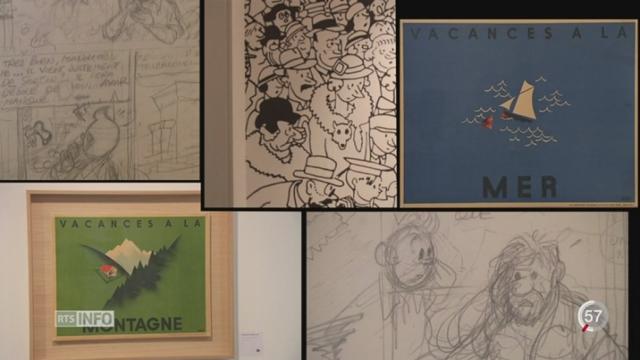 VD: le MUDAC expose Hergé [RTS]