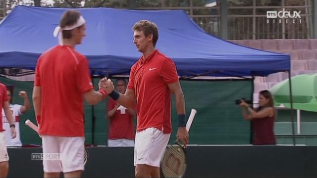 Barrage, Double. Ouzbékistan - Suisse (4-6, 2-6, 6-7): Le Duo suisse gagne le match et rempporte un 2e point à son équipe [RTS]