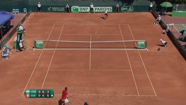 Tennis-Coupe Davis: Henri Laaksonen a perdu contre Denis Istomin [RTS]