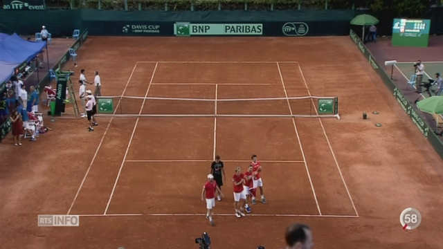 Tennis-Coupe Davis: Antoine Bellier permet à la Suisse de se maintenir dans le Groupe mondial [RTS]