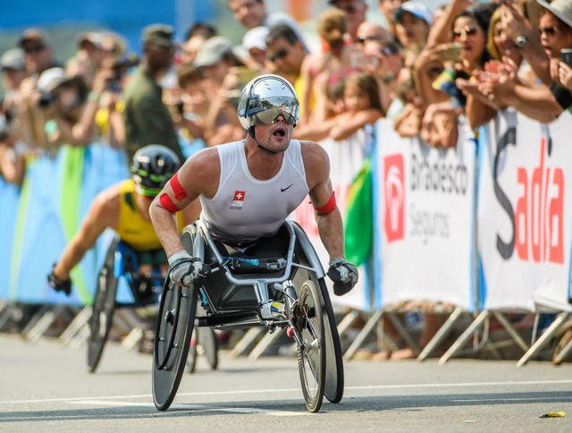 Marcel Hug rentre de Rio avec 2 titres suprêmes! [Thomas Lovelock - Keystone]