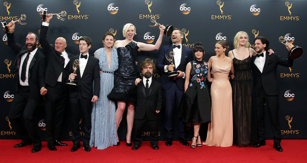 "Le casting de ""Game of Throne"" lors des 68e Emmy Awards à Los Angeles."