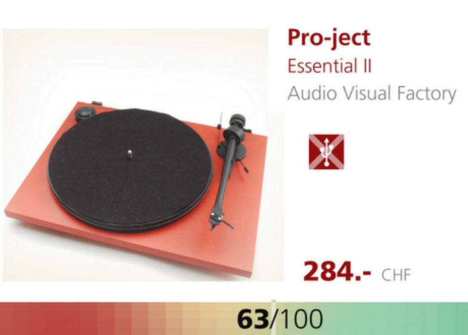 Platine Pro-ject Essential II. [RTS]