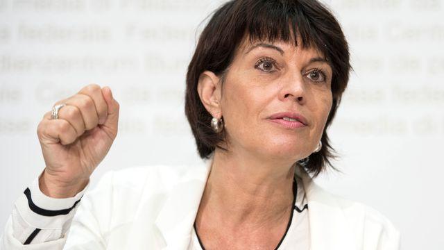 La conseillère fédérale en charge de l'Energie Doris Leuthard. [Peter Schneider - Keystone]