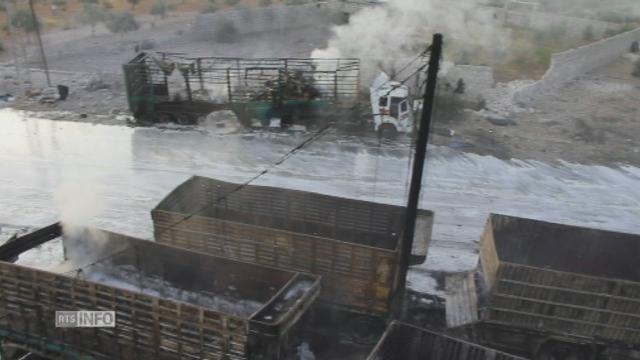 Convoi d'aide humanitaire attaqué en Syrie [RTS]