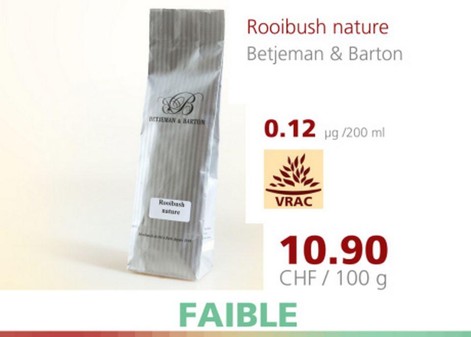 Rooibush nature [A Bon Entendeur - 12.04.2016 - RTS]