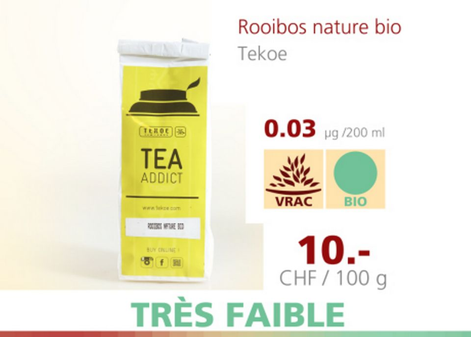 Rooibos nature bio [A Bon Entendeur - 12.04.2016 - RTS]