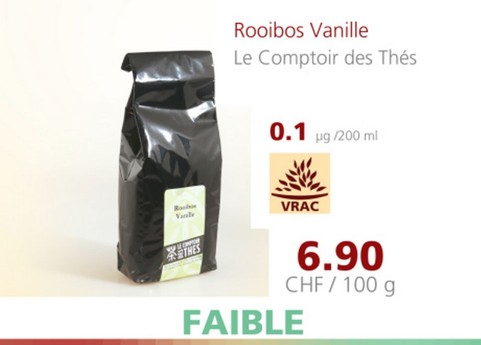 Rooibos Vanille [A Bon Entendeur - 12.04.2016 - RTS]