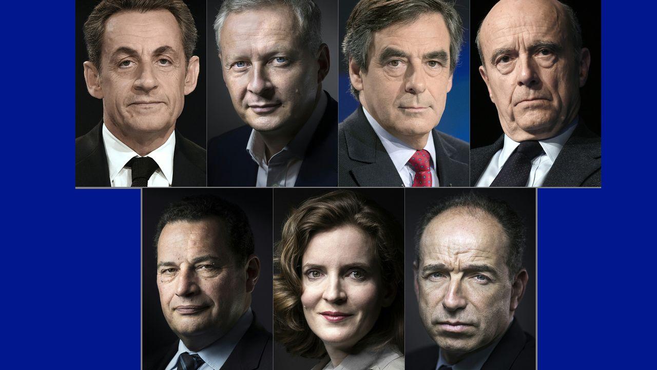 Les candidats à la primaire à droite. [Team afp - AFP]