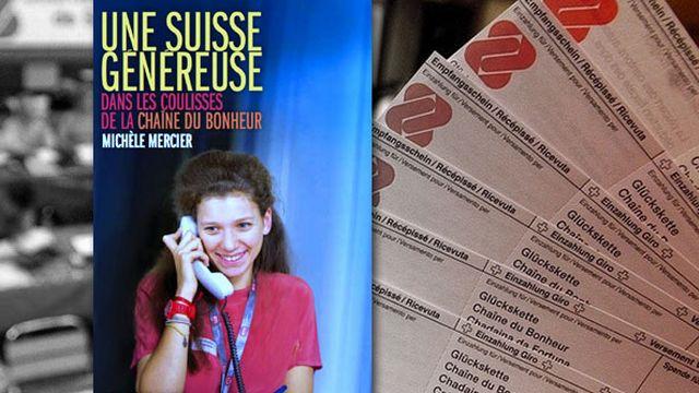 """Couverture du livre de Michèle Mercier, """"Une Suisse généreuse"""" (2013, Editions Labor et Fides). [Les Editions Labor et Fides/http://www.humantouch.ch/fr/publications/  - RTS]"""