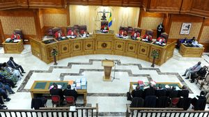 La Cour constitutionnelle du Gabon lors de l'une de ses séances à Libreville.