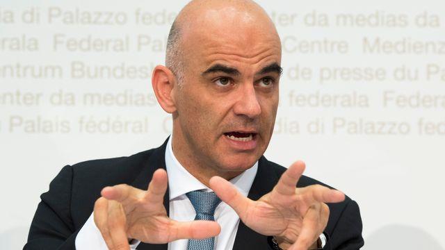 Le conseiller fédéral en charge de l'Intérieur Alain Berset. [Anthony Anex - Keystone]