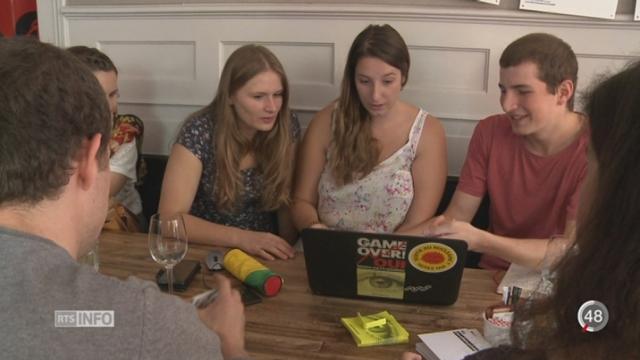 Votations - Loi sur le renseignement: les jeunes opposants se sont fait entendre au-delà des frontières [RTS]