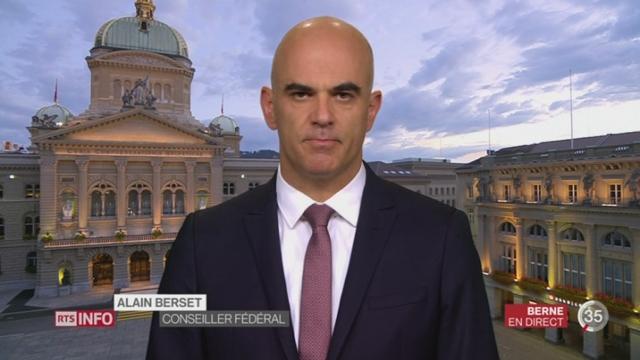Votations fédérales - Non à AVSplus: le mot du conseiller fédéral Alain Berset, à Berne [RTS]
