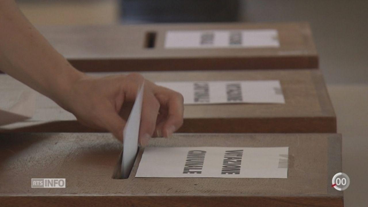 """TI - Votations: les Tessinois disent """"oui"""" à une initiative de l'UDC pour la préférence indigène [RTS]"""