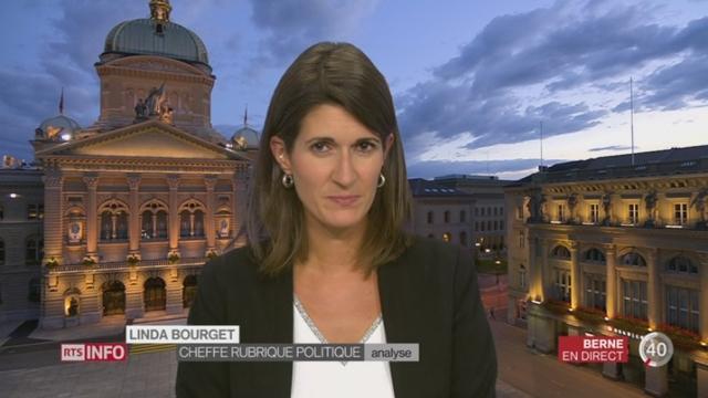Votations fédérales - Non à AVSplus: l'analyse de Linda Bourget, à Berne [RTS]