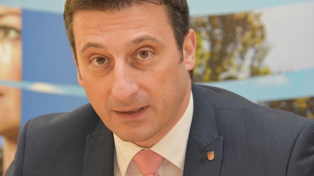 Le ministre jurassien en charge de la Santé Jacques Gerber. [Gaël Klein - RTS]