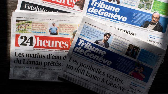 Les rédactions de 24 Heures et de la Tribune de Genève sont impactées par les mesures d'économies. [Laurent Gillieron - Keystone]