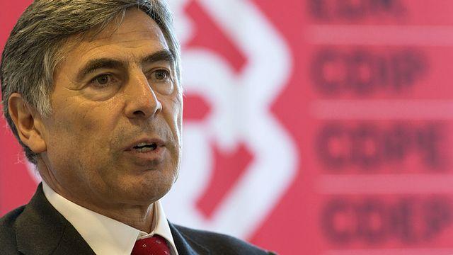 Christoph Eymann, président de la Conférence des directeurs cantonaux de l'instruction publique (CDIP). [Georgios Kefalas - Keystone]