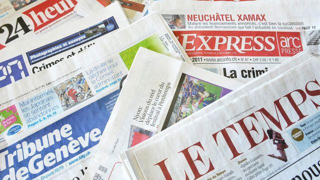 Les éditeurs ont-ils une vraie volonté de maintenir une presse forte en Suisse romande? [Dominic Favre - Keystone]