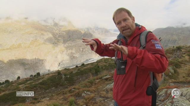 Un pan entier de montagne menace de s'effondrer sur le glacier d'Aletsch [RTS]