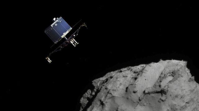Philae quitte Rosetta, en direction de la comète Tchouri. ESA/ATG medialab/Rosetta/Navcam [ESA/ATG medialab/Rosetta/Navcam]