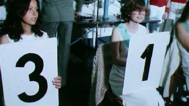 Tirage de la loterie à numéros en 1977. [RTS]