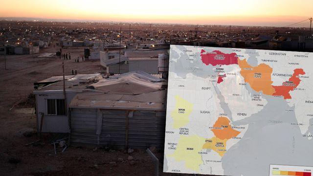 Zaatari, le plus grand camp de réfugiés syriens dans le nord de la Jordanie. [AP Photo/Sam McNeil - Keystone]