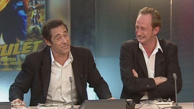 Fou rire de Gérard Lanvin et Benoît Poelvoorde [RTS]