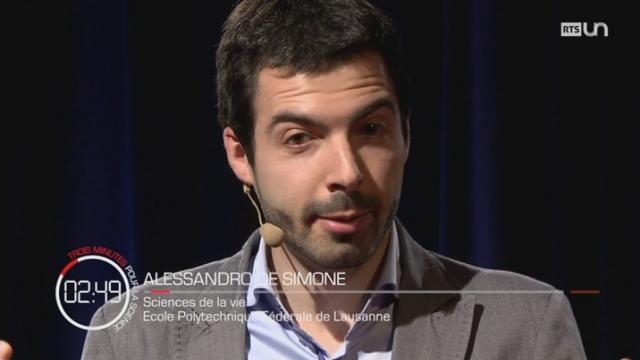 3 minutes pour la science :  Alessandro De SIMONE [RTS]