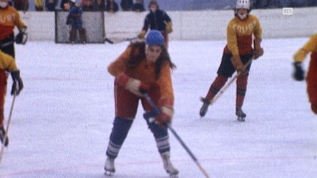 Première équipe féminine de hockey sur glace de Suisse. [RTS]